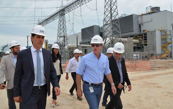 Ramos visitó la central termoeléctrica Vuelta de Obligado.