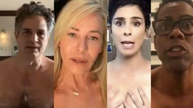 Granes estrellas de Hollywood se desnudan para pedir que vayan a votar en las elecciones en Estados Unidos.