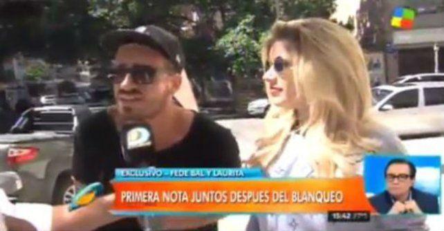 Fede Bal y Laurita Fernández especularon sobre el inicio de su romance en la primera nota juntos
