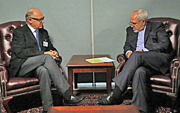 Contacto. Los cancilleres de Argentina e Irán reactivaron el diálogo en un encuentro en Nueva York.