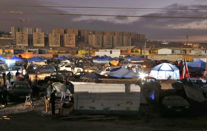 Castigada. Residentes de Alto Hospicio se trasladaron a descampados.