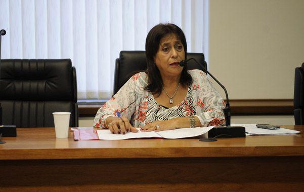 Raquel Cosgaya presidió la audiencia imputativa de ayer.