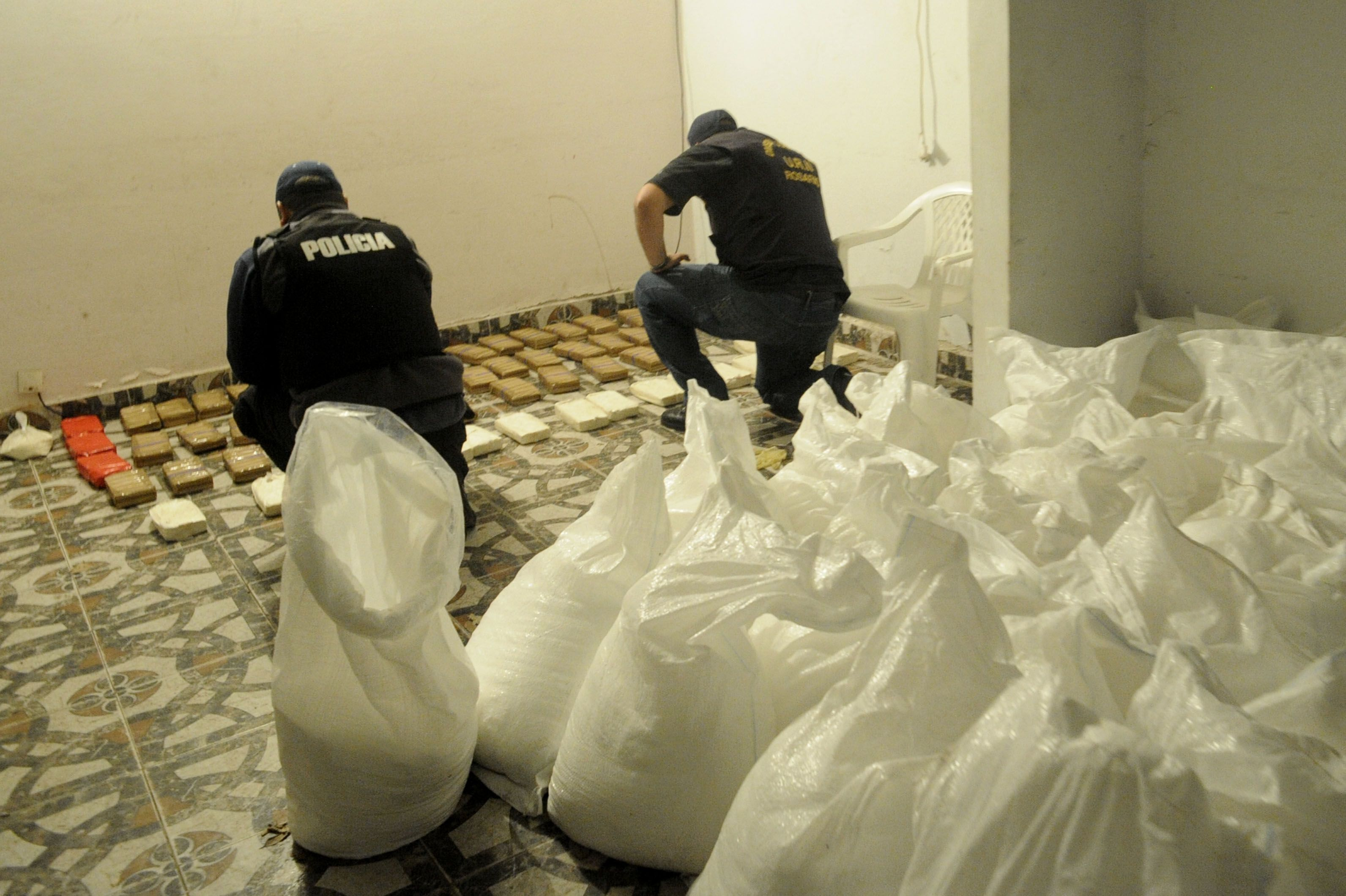 Operativo antidroga llevado a cabo en una casa de Funes. (Foto: archivo)