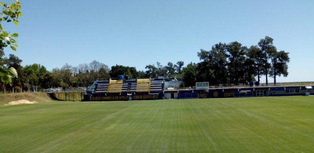 La cancha del pozo, la principal de la ciudad deportiva.