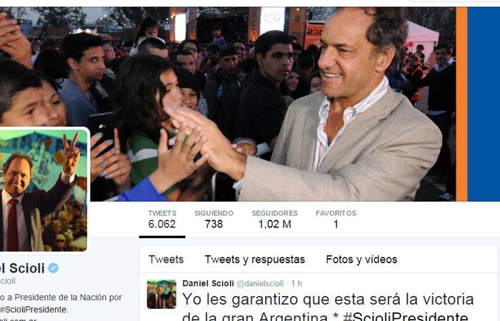 {altText(El hashtag #ScioliPresidente fue el más utilizado en toda la campaña política.,Scioli fue el más mencionado en las redes sociales)}