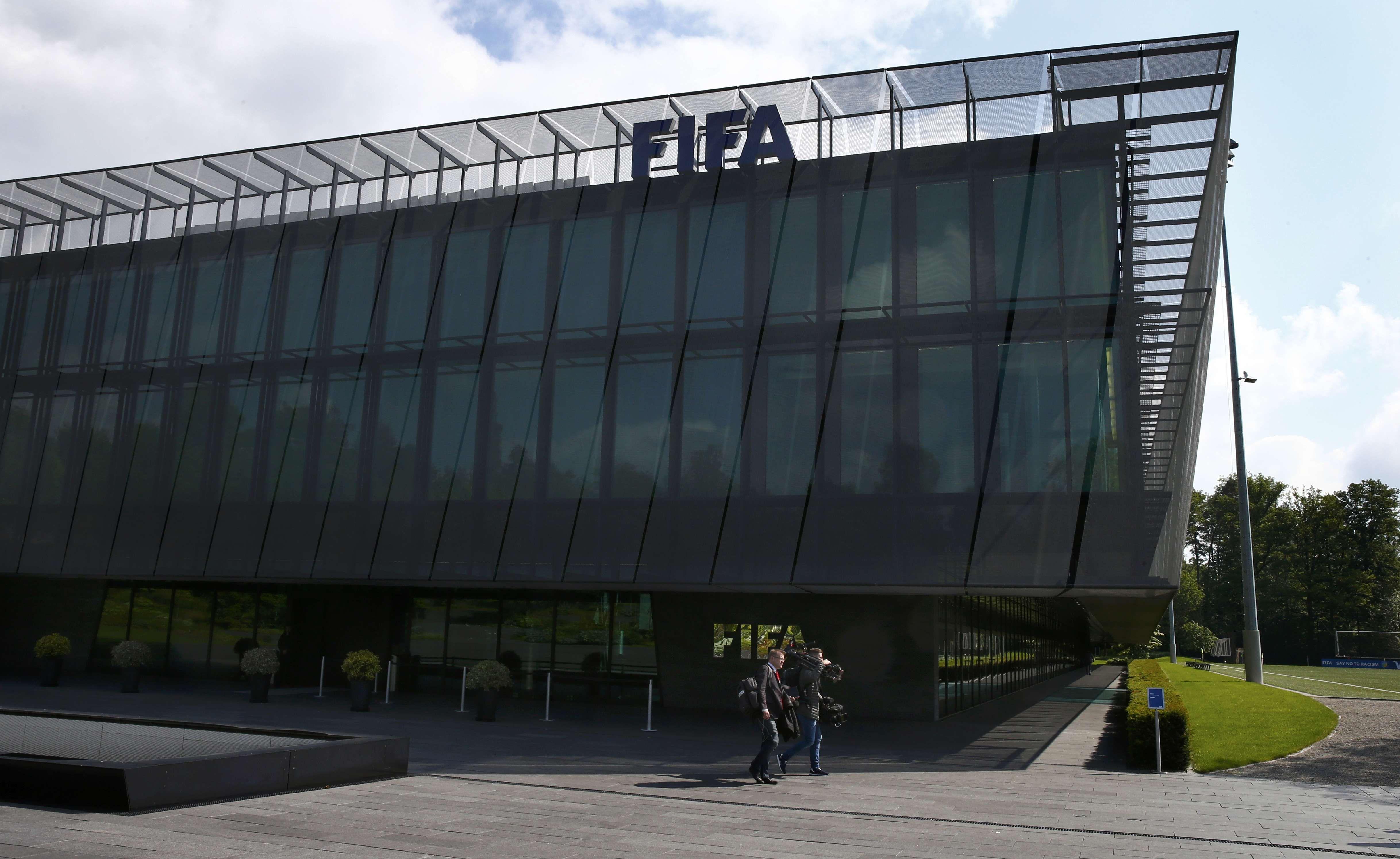 La sede central de la Fifa en Suiza. El procedemiento judicial se realizó alrededor de las 4
