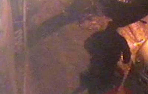 Uno de los fotogramas del video que mostraría el ataque de un patovica a Gerardo Escobar.
