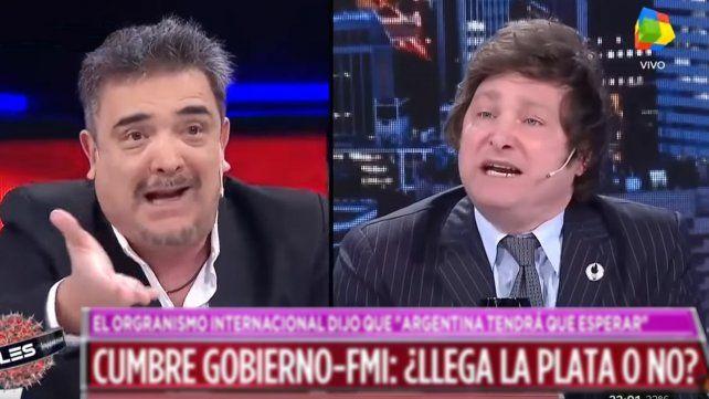 Milei tuvo un brote de furia en televisión e insultó a Nito Artaza