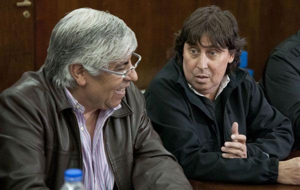 Hugo Moyano y Pablo Micheli