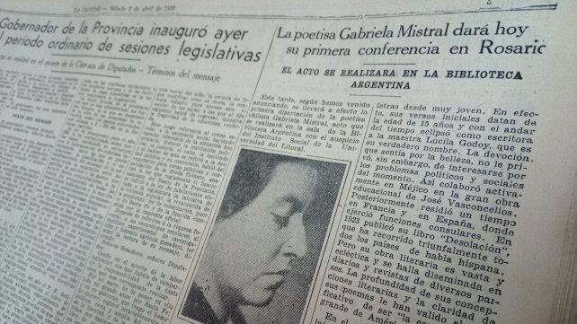 El Diario La Capital informa sobre la conferencia que la escritora chilena ofrecerá el 2 de abril en la Biblioteca Argentina.