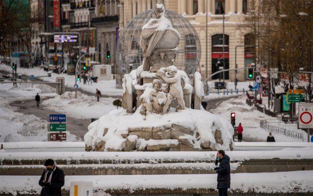 Plaza Cibeles en el centro de Madrid