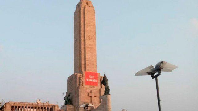 Soy donante, la bandera que interpela desde el Monumento