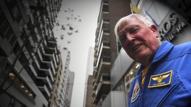 En pleno centro rosarino. El astronauta contó detalles sobre la estadía en la estación espacial internacional y las variadas tareas que allí se realizan.