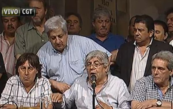 Moyano habló junto a Pablo Micheli de la CTA.