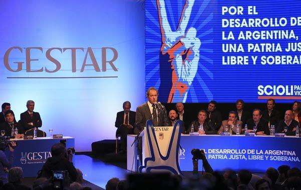 Definición. El gobernador bonaerense fue el principal orador de la jornada organizada por el instituto Gestar.