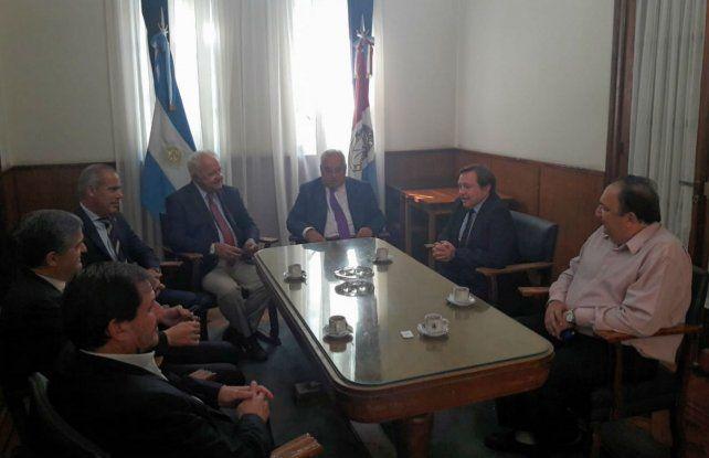 Gutiérrez recibió a los representantes del Colegio de Magistrados y del Sindicato de Judiciales provinciales.