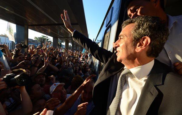 El ministro tomó el convoy en Zárate y viajó hasta nuestra ciudad