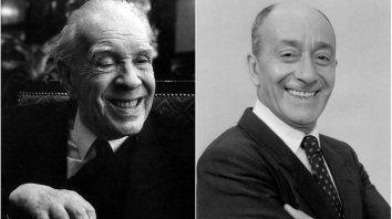 Jorge Luis Borges y Alberto Olmedo, dos figuras de la escena culutral argentina que compartieron una misma pasión lúdica.