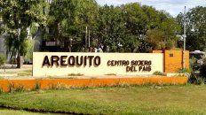 Sector de ingreso a la localidad de Arequito.