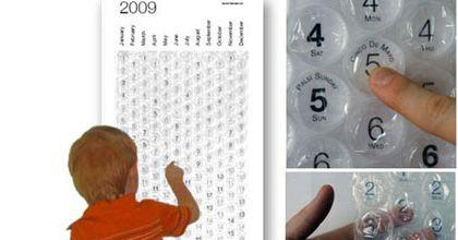 Un calendario 2009 con burbujas de aire es furor en Estados Unidos