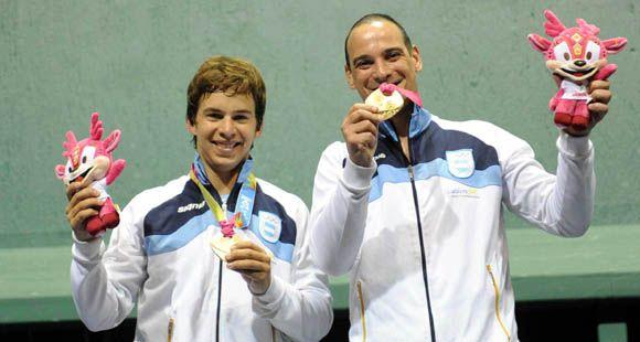 La pareja argentina de pelota consiguió una nueva medalla de oro para Argentina