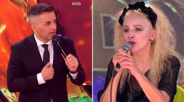 Angel De Brito y Nacha Guevara cara a cara en el Cantando 2020. La actriz fue dura con el conductor.
