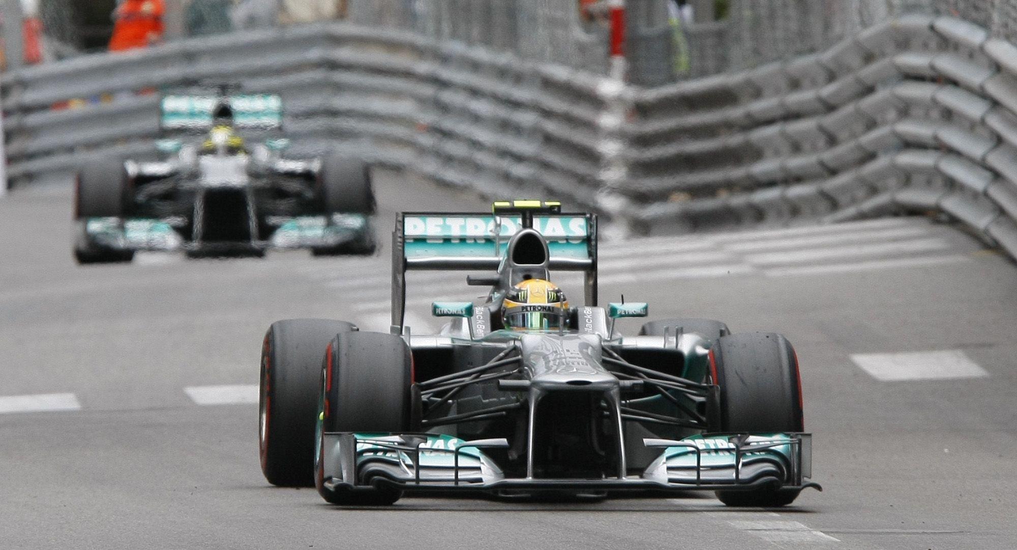 Primero yo. Rosberg dominó la clasificación en Mónaco. Hamilton lo escoltó.