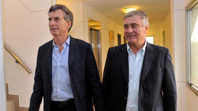El presidente Mauricio Macri y el ministro de Comunicaciones