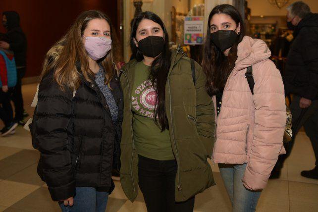 Candela Miño, Gianina y Julieta Gilio