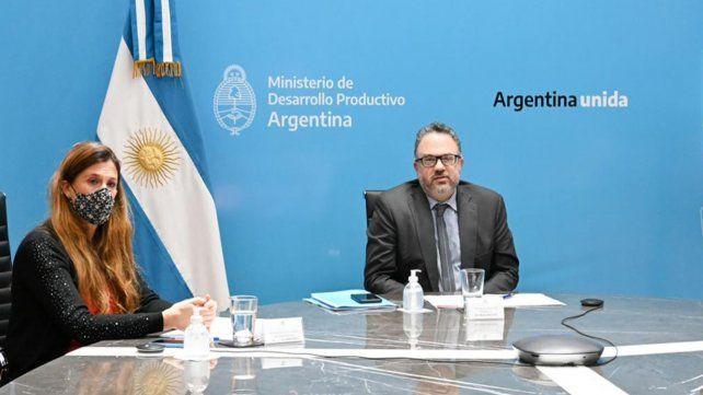 inversión. El ministro Kulfas en videoconferencia con la firma Terragene.