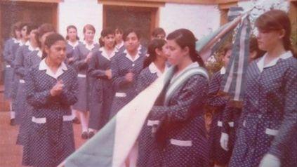 La abanderadas Claudia Carrero trabajó como numeraria auxiliar en Rosairo.