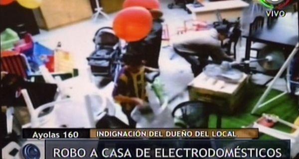 Robo casa electrodomesticos