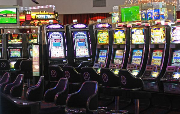 Las máquinas tragamonedas del casino de Melincué.