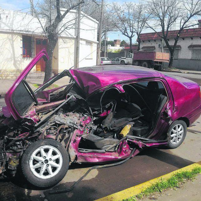 fatal. El auto donde viajaban las víctimas