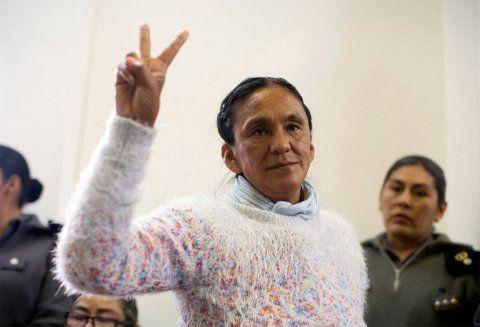 a un paso. La líder de la Túpac Amaru está detenida desde enero de 2016 en el penal de Alto Comedero.