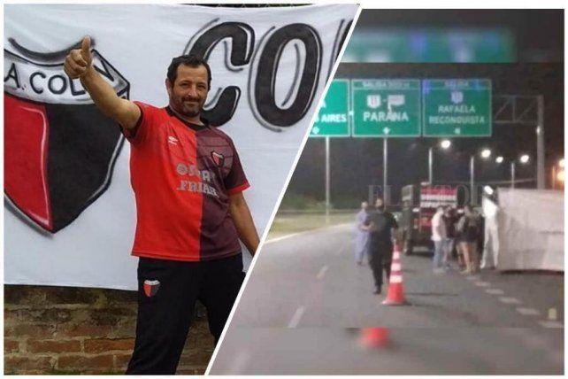 Salas tenía 45 años y fue atacado en el cruce de la avenida de Circunvalación y la autopista a Rosario.