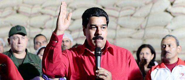 Al mando. Maduro durante un acto en Caracas anteayer. Es el sucesor designado por el propio Chávez.