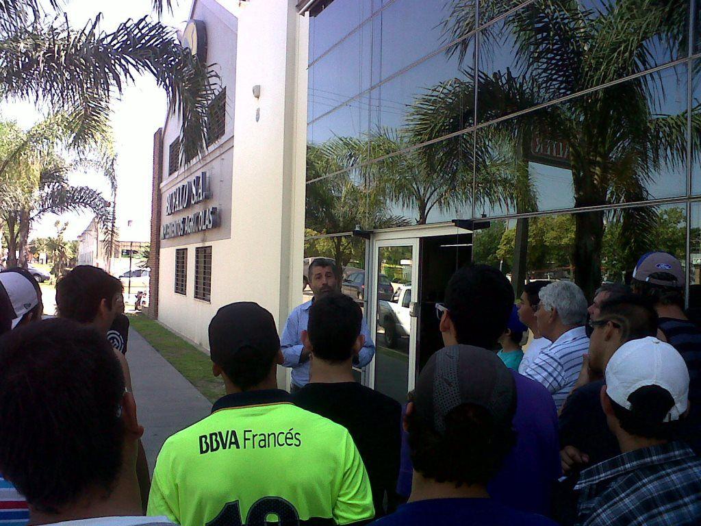 Recorrida. Estudiantes y docentes de La Pampa visitaron la ciudad.