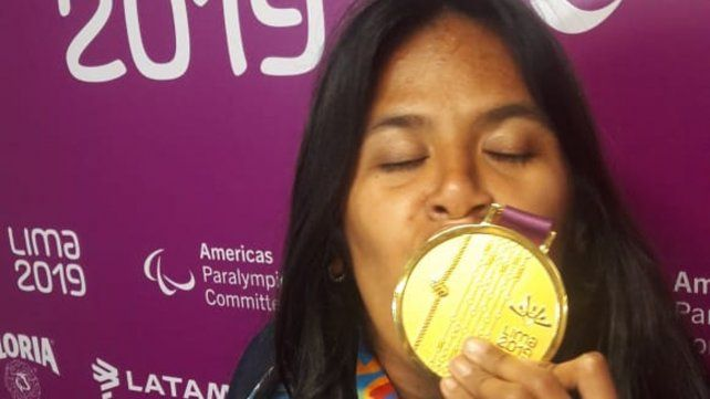 Imparable. Martínez ganó sin problemas los 200 metros. Mañana buscará el oro en la prueba de 100 metros.