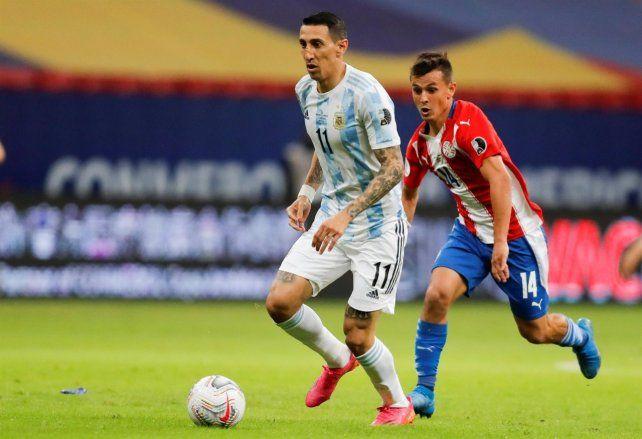 Ange3l Di María ingresaría este jueves ante Perú por Nicolás González.