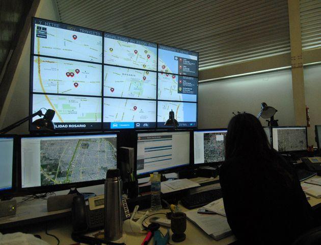 El centro de monitoreo municipal.