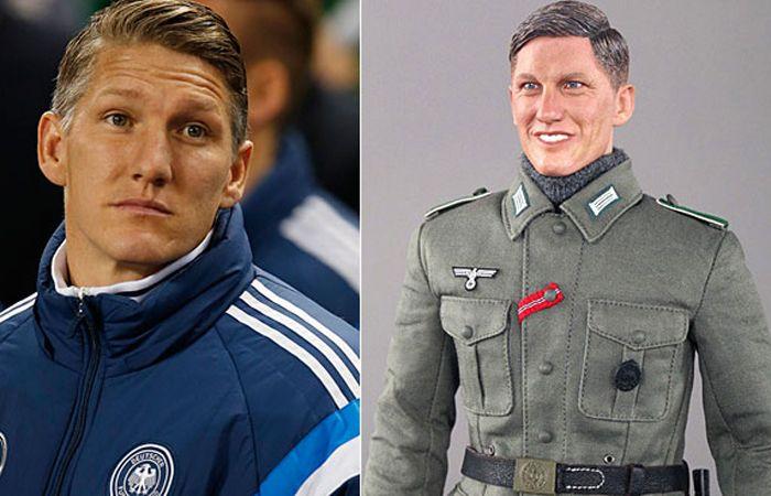 Schweinsteiger y el muñeco