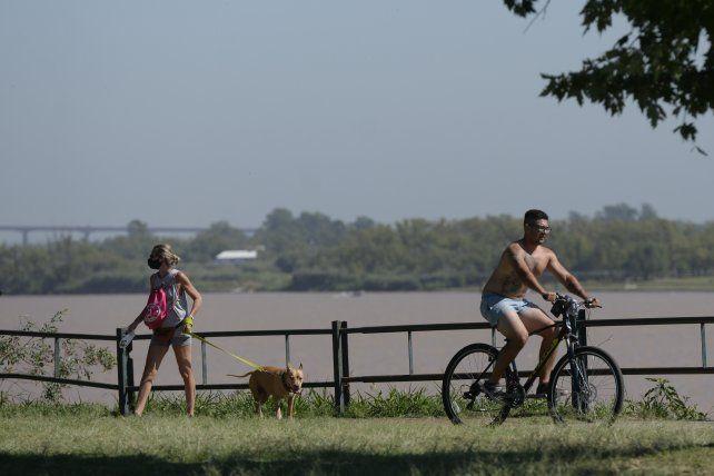 La mañana del sábado amaneció ideal para salir a hacer deporte a las parques de Rosario.